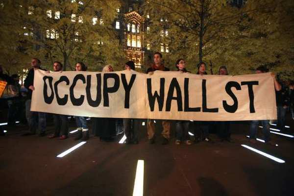 Protesters of the Occupy Wall Street movement in New York in 2011.