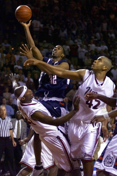 Richard Hamilton, playing here in a regular season game in 1998, had the game-winner in the 1998 NCAA Tournament win over Washington.