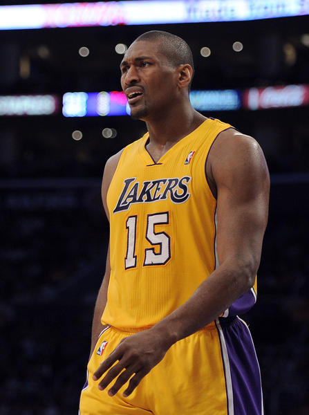 In the start of his career, Metta World Peace was known as a wild guy, admitting to drinking Hennessy during half time with the Chicago Bulls.  Later in his career, the infamous Pacers - Pistons brawl in November 2004 happened after (then named) Artest fouled Pistons center Ben Wallace leading to a shoving match into the stands.  One of the fans threw a cup of Coke that hit Artest, leading him to jump into the stands erupting a brawl between fans, and players alike.  The fight then moved back onto the court where Artest punched a Pistons fan.  The game was stopped with one minute remaining, and as a result eight players received suspension for their acts.  Artest was suspended for the rest of the season missing all together 86 games