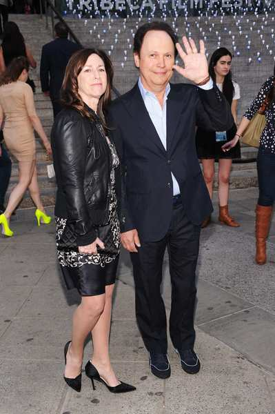 Actor Billy Crystal and Janice Crystal.
