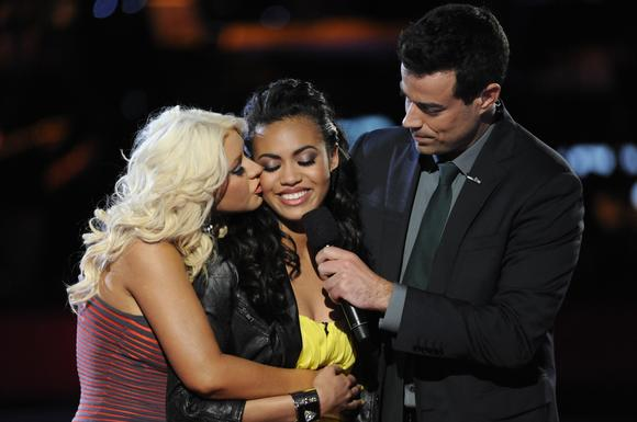 Christina Aguilera and Carson Daly comfort Ashley de la Rosa.