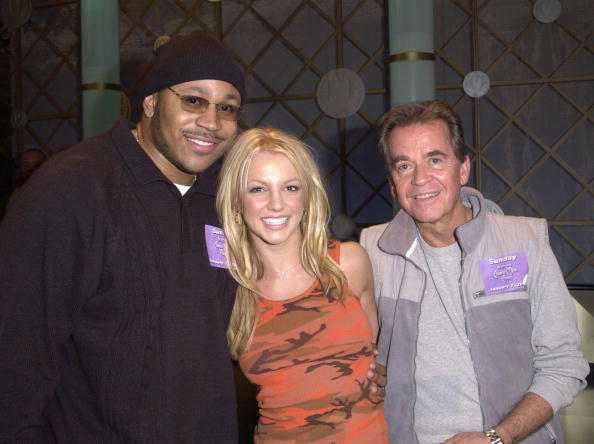 LL Cool J, Britney Spears & Dick Clark at the 28th Annual American Music Awards.