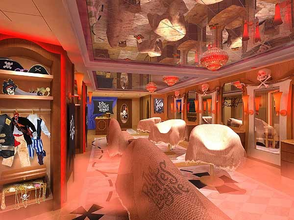 Florida Cruise Guide: Disney Fantasy pictures - Disney Fantasy renderings -- Pirate
