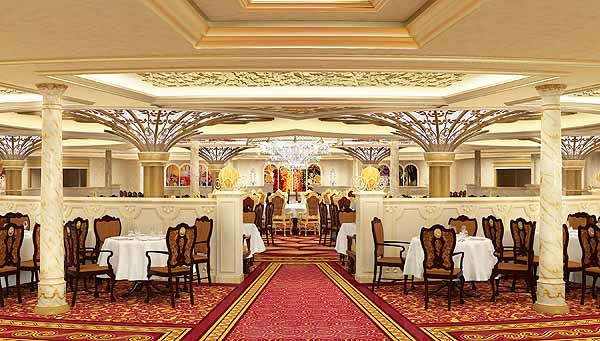 Florida Cruise Guide: Disney Fantasy pictures - Disney Fantasy renderings -- Royal Court restaurant