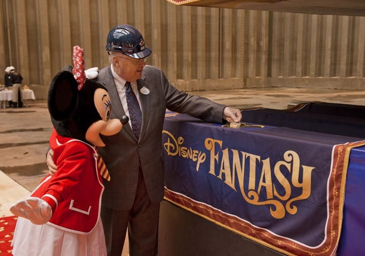 Keel-laying ceremony for the Disney Fantasy - Keel laying of Disney Fantasy