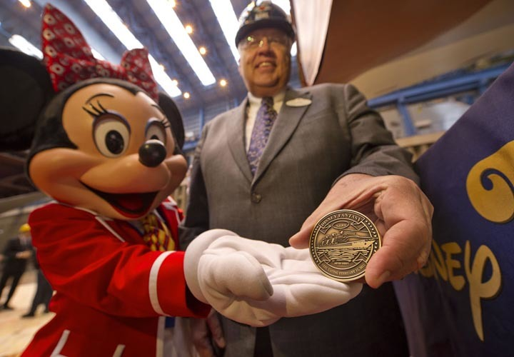 Keel-laying ceremony for the Disney Fantasy - Keel laying for Disney Fantasy