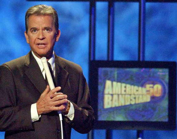 "Dick Clark during the taping of ""American Bandstand's"" 50th anniversary special in 2002."