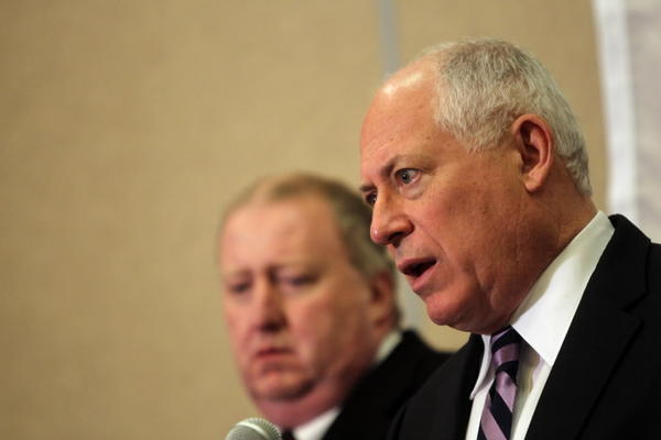 Glimpses of cuts to Illinois' Medicaid program emerged Wednesday. Gov. Pat Quinn, seen here Tuesday, is expected to outline them Thursday.