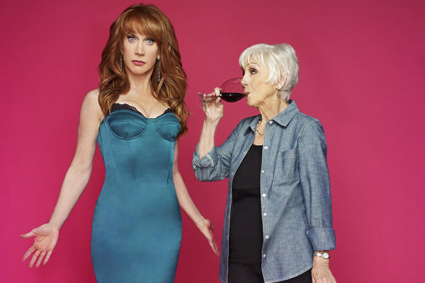 "Kathy Griffin and her mom, Maggie, will appear on the new Bravo talk show ""Kathy."""