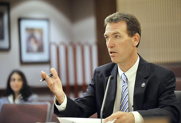 Timothy R. Troxell, executive director of the Hagerstown-Washington County Economic Development Commission, talks to the Washington County Board of Commissioners in this Sept. 22, 2010 file photo.