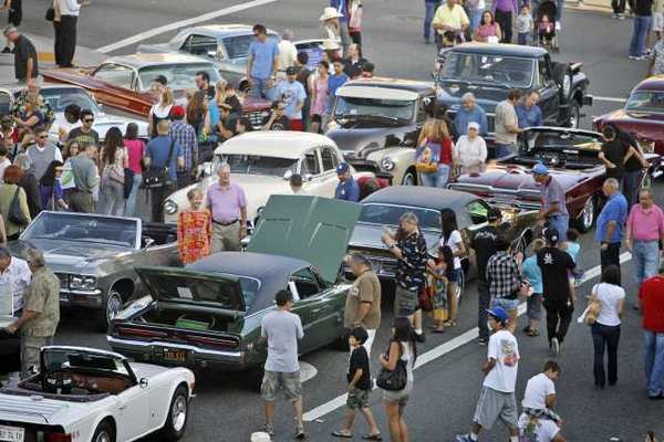 Last year's Cruise Night in Glendale. The City Council, without the support of a redevelopment agency, voted to scale back the event this summer.