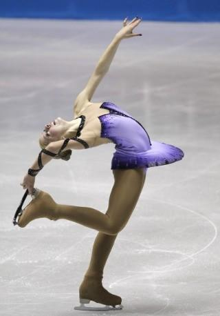 Gracie Gold in Thursday's short program at the World Team Trophy in Tokyo.  Kim Kyung-Hoon / Reuters