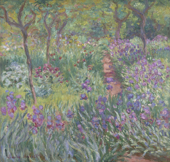 Claude Monet, The Artist's Garden in Giverny, Yale University Art Gallery,  Collection of Mr. and Mrs. Paul Mellon, B.A. 1929