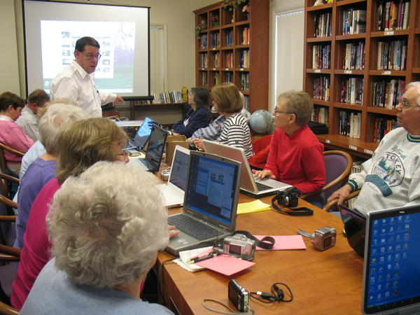 Courtesy photo The individual attention, small class size and relaxed setting that characterize the Friendship Centers of Emmet County technology workshops help make learning about computers less intimidating. Classes for seniors begin Wednesday, April 23, at the Petoskey High School media center.