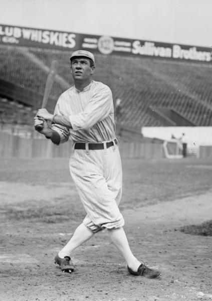 Boston Red Sox center fielder and Hall of Fame member Tris Speaker in 1912.