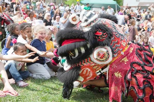 The Dragon and Lion Head Dance is one of the one of the most popular and colorful events at the International Children's Festival