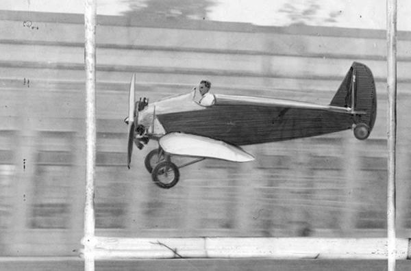 "In 1926, Henry Ford introduced a 15-foot aircraft he dubbed the ""Model T of the Air,"" the Ford Flivver. The single-seat midget plane was flown by just two men, Charles Lindbergh and test pilot Harry Brooks. Ford stopped production on the Flivver after Brooks cr"