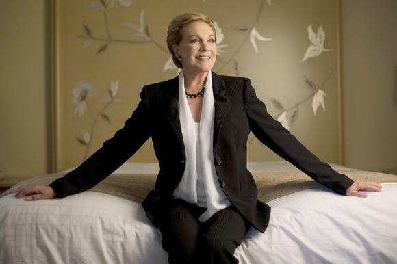 Eternally youthful, Julie Andrews poses in her Beverly Hills hotel suite in 2010.