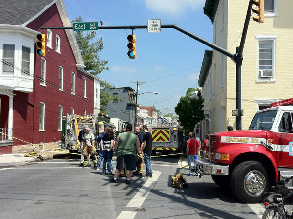 Copper thieves caused a gas leak that prompted Hagerstown officials to evacuate about 40 people from the 200 block of North Locust Street on Thursday, city police and fire officials said.