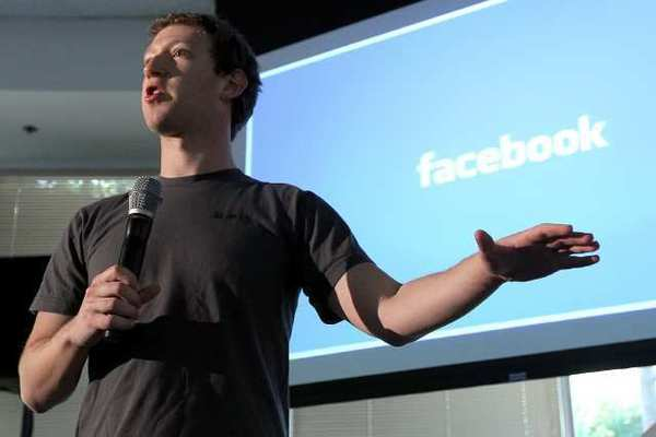 Facebook CEO Mark Zuckerberg speaks during a media event at Facebook headquarters in Palo Alto, Calif.