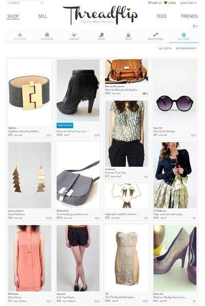 Start-up Threadflip enables users to sell their unwanted fashions online.