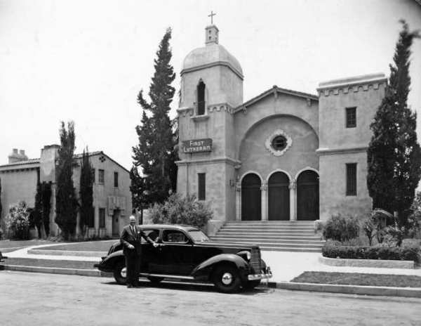 The congregation of First Lutheran purchased a 1938 Studebaker from Packer Motor Company and gave it to their minister, James P. Beasom, Jr. to show their appreciation for his pastoral duties. It was presented in 1938, on the first anniversary of his arrival at the church.