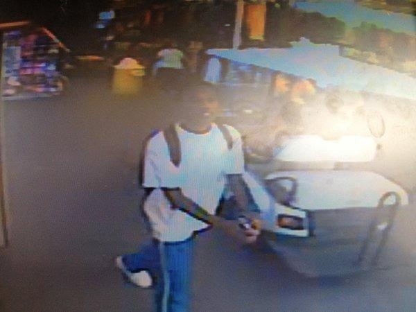 Lauderhill Police hope surveillance video will help catch two men who stole gold chain and cash near Swap Shop.