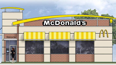 Concept drawing of a proposed McDonald's at U.S. 131/U.S. 31