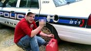 "<span style=""font-size: small;"">There it was on Facebook for all to see – Michael Baker with a gas can, a siphon hose stuck into a police cruiser in eastern Kentucky and a middle finger raised. Among those who saw it were Jenkins, Kentucky police, who arrested 20-year-old Baker and charged him with theft by unlawful taking. Police didn't laugh. Chief Allen Bormes says that if Baker would steal from police, he'd steal from ""just about anybody."" Authorities say they plan to buy lockable gas caps.</span>"