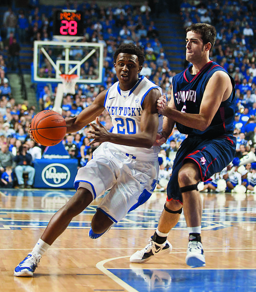 Kentucky guard Doron Lamb said Tuesday that he has worked hard to make himself into an NBA-caliber player, and feels this was the right time to enter the NBA draft.