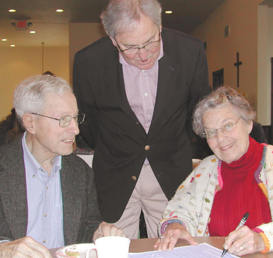 "Brownie Flanders (standing) is helping John and Barb Danley with their ""Five Wishes."""