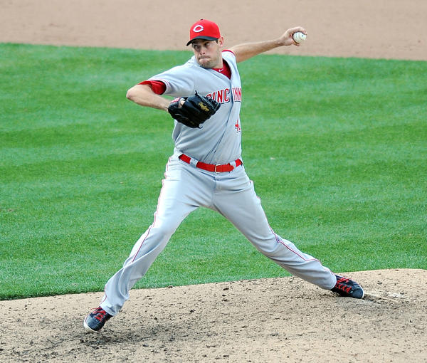 Cincinnati Reds relief pitcher Sean Marshall works in the 11th inning against the Washington Nationals.