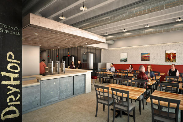 A rendering of Dryhop, aiming to open this winter in Lakeview.
