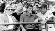 George Halas, Ronald Reagan, Jack Brickhouse, and Leo Durocher