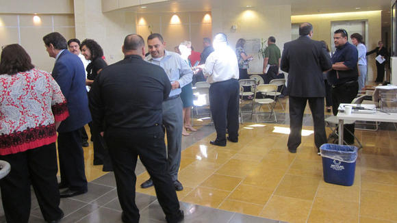 Employers mingle with federal probation officials
