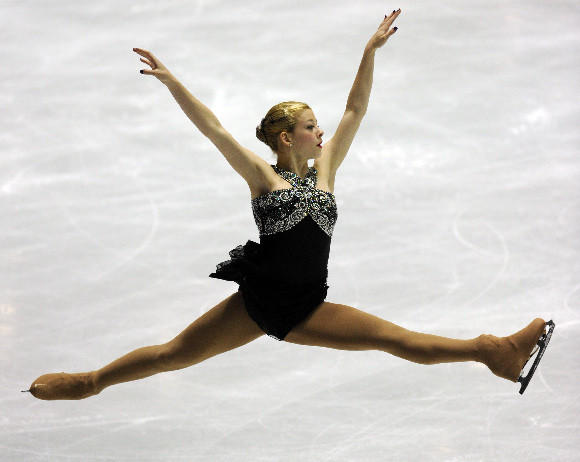 Gracie Gold in her free skate at the World Team Trophy.  Toshifumi Kitamura/AFP/Getty Images