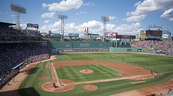 Fenway Park celebrates its 100th birthday Friday. The park is captured here in this file image.