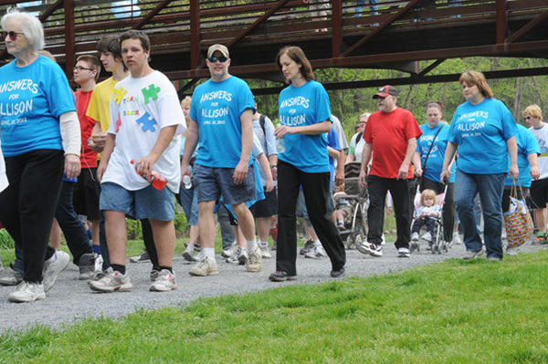 'Walk Now for Autism Speaks' walk at Lehigh Parkway in Allentown on Saturday afternoon. Organizers said 10,000 came out for the event.