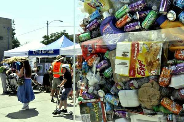 Hundreds of people attend the Burbank Recycling Center's Family Fair on Saturday.