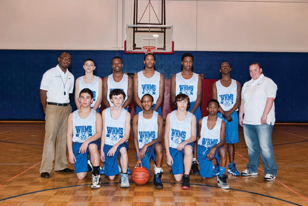 The Western Heights Middle School eighth grade boys basketball team won the Washington County Middle School tournament, defeating Boonsboro in the championship game. Western Heights finished 12-1 on the season. From left to right: Kneeling -- Matt Shipley, Jordan Davis, Sean Roberts, Kobe Cline and Kny Hawkins. Standing -- head coach Eric Rollins, Nick Crawford, Kevin Vaughan, Jaqueis Staple, James Brooks, Glen Grant-Tinsley and coach Tiffany Twigg. Not pictured: Christian Gill.