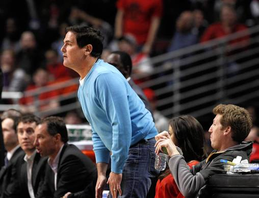 Mavericks owner Mark Cuban watches the action during the second half.