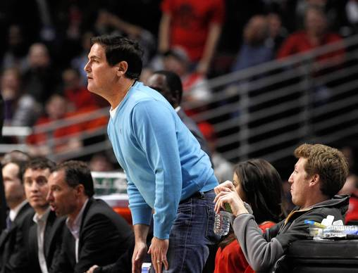 Mavericks owner Mark Cuban watches the action during the second h