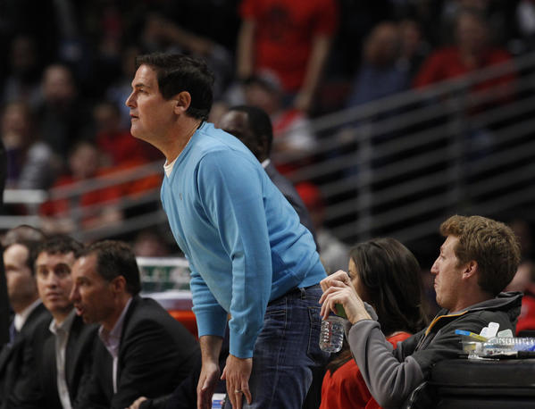Mavericks owner Mark Cuban watches the game at the UC.