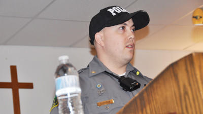 Summit Township police Chief Nathan Claycomb