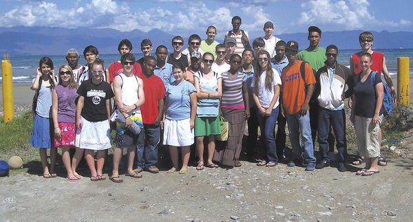 Heritage Academy students are shown in the Dominican Republic, where they spent spring break on a recent mission trip.