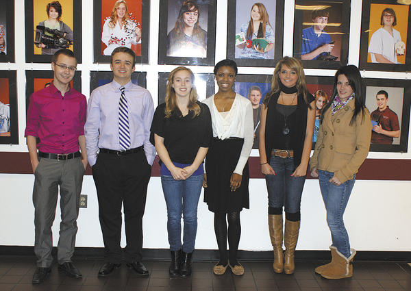 From left are Washington County Technical High School students David Seredich, Tyler Notarianni Stephens, Alexa Mills, Daphne Bryant, Kayla Vigrass and Sydney Smith.