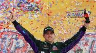 It was Denny Hamlin's day in the sun.