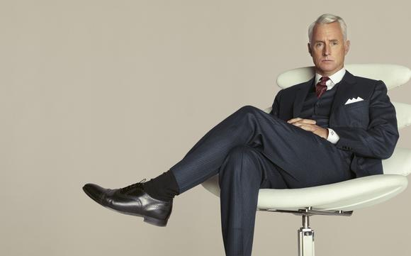 Roger Sterling (John Slattery) in a non-trippy moment.