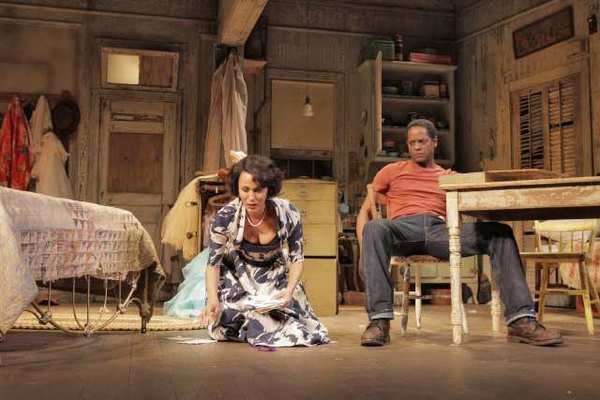 "Nicole Ari Parker and Blair Underwood in ""A Streetcar Named Desire"" at the Broadhurst Theatre in New York."