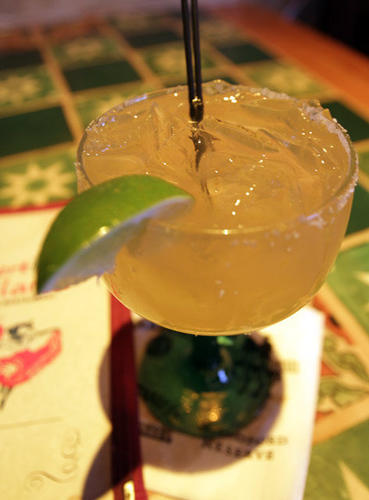"The 1800 margarita at <a href=""http://www.puertovallartausa.com/""target=new window"">Puerto Vallarta</a> is the perfect addition to one of their signature enchiladas, burritos or fajitas."